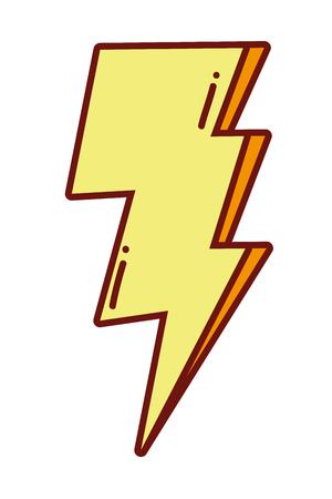 pop art thunder weather style
