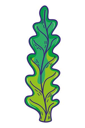 marine seaweed nature plant style vector illustration
