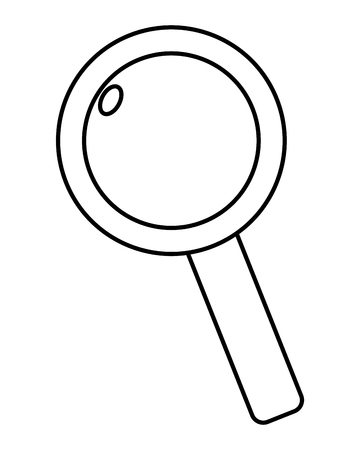 outline magnifying glass tool loupe exploration