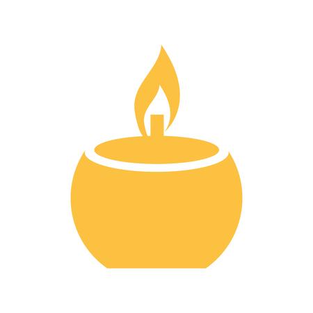 Spa candle symbol vector illustration graphic design