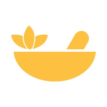 Spa bowl and stick symbol vector illustration graphic design 일러스트