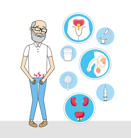 old man with renal infection diagnosis