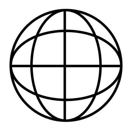 Global sphere symbol Ilustración de vector
