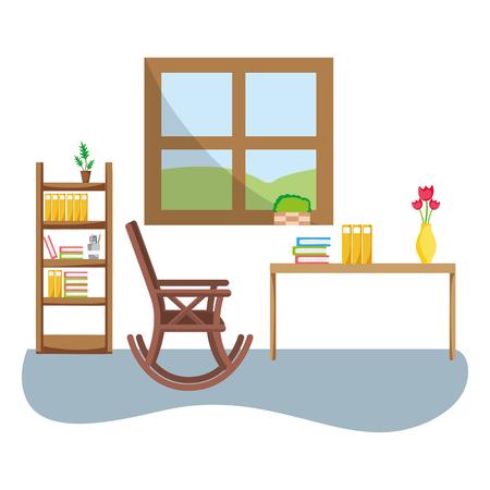elderly household cartoon  イラスト・ベクター素材