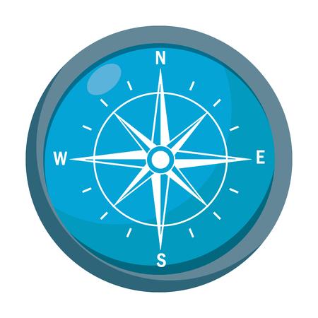 blue compass icon 向量圖像