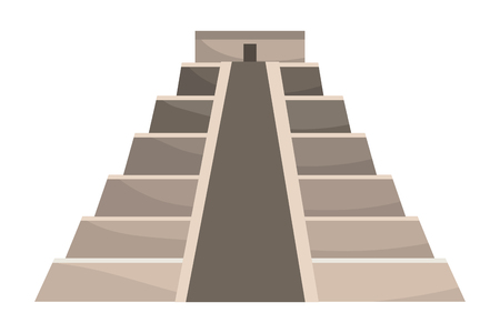 pyramid structure icon Иллюстрация