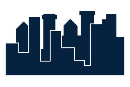 Stadtgebäude-Szenerie Vektorgrafik