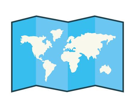 World map folded Illustration