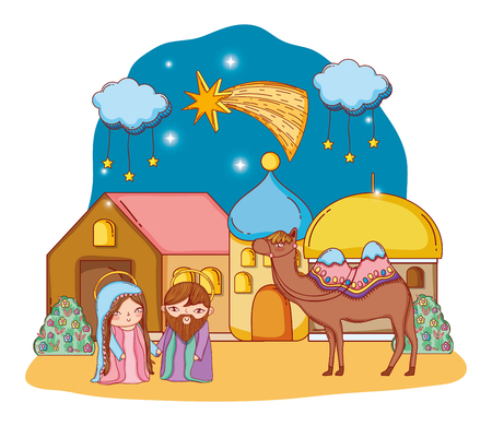 nativity christmas cartoon