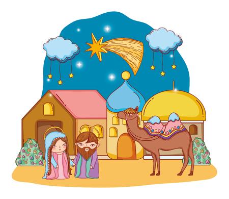 nativity christmas cartoon Stok Fotoğraf - 110810157