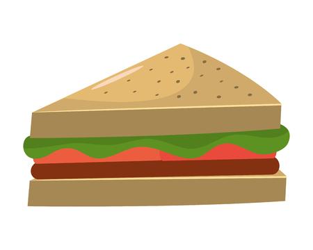 Sandwich healthy food vector illustration graphic design Çizim