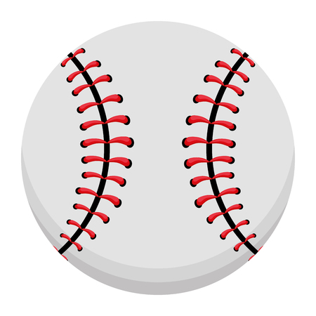 baseball ball sport equipment isolated cartoon Ilustrace