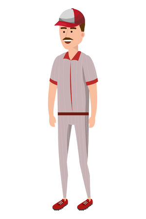 baseball baseman player isolated cartoon vector illustration graphic design