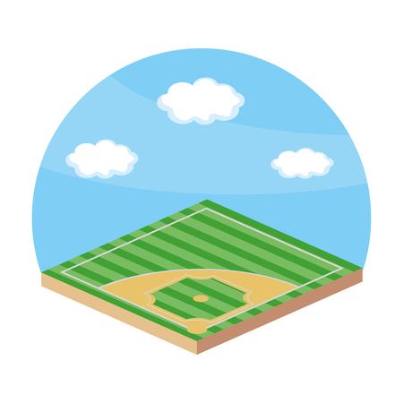 Baseball playing field Illustration