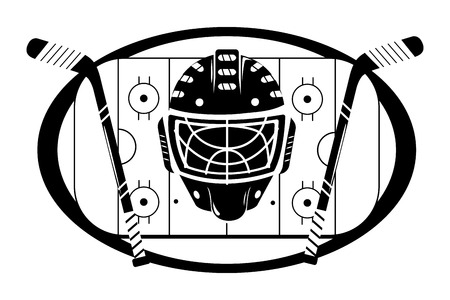 ice hockey cartoon Banco de Imagens