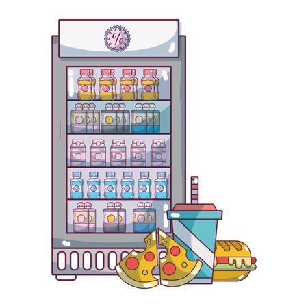 supermarket grocery products cartoon 일러스트