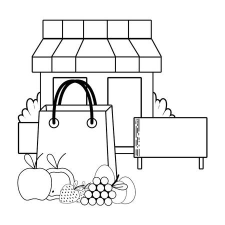 supermercado tienda comestibles negocio compra