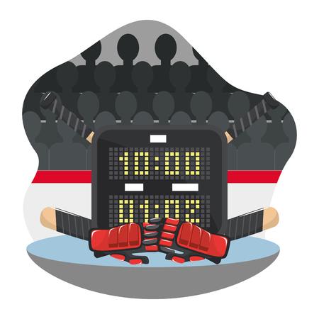 hockey gear and equipment 向量圖像