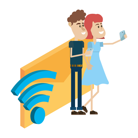 couple and email technology isometric