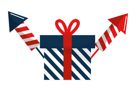 Gift design, United states america usa independence day and country theme Vector illustration