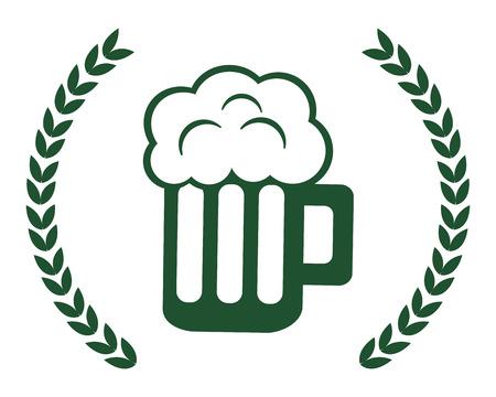 Beer design, St patricks day ireland celebration fortune and irish theme Vector illustration Ilustracja
