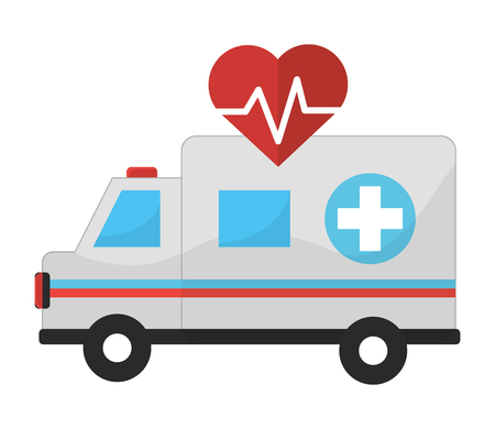 Ambulance, Concept of medical health care hospital emergency and clinic Vector illustration Illustration