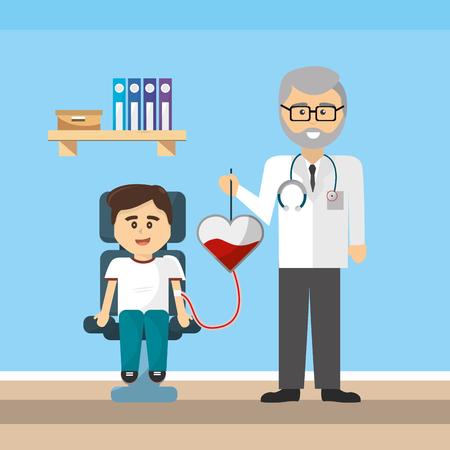 Doctor office design, Concept of medical health care hospital emergency and clinic Vector illustration Vektoros illusztráció