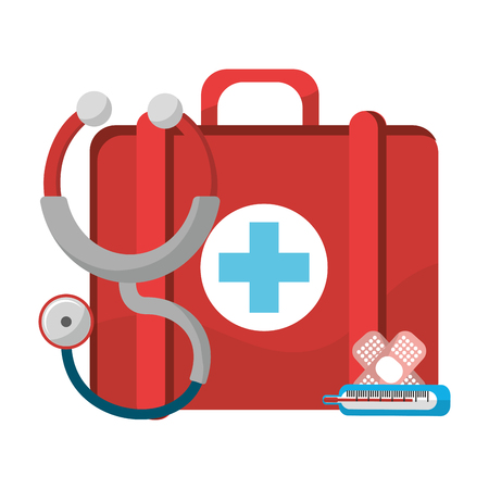 Kit design, Concept of medical health care hospital emergency and clinic Vector illustration