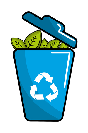 Isolated eco trash, Concept of Ecology renewable conservation saving support bio and environment Vector illustration