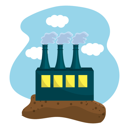 Isolated eco factory, Concept of Ecology renewable conservation saving support bio and environment Vector illustration Banque d'images - 112031788