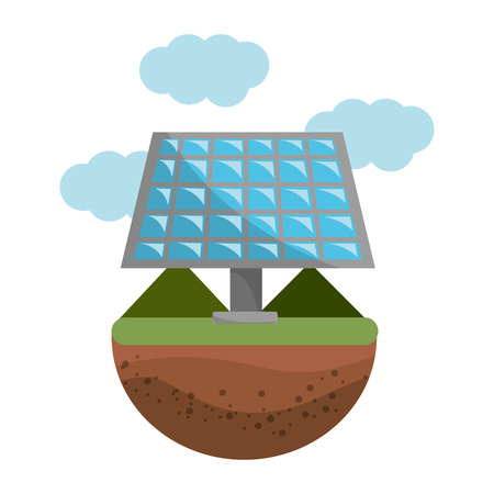 Isolated eco solar panel, Concept of Ecology renewable conservation saving support bio and environment Vector illustration Banque d'images - 112040562