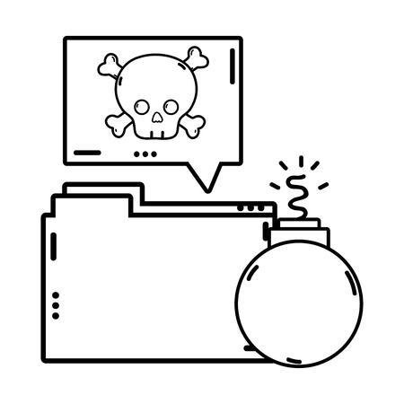 Conjunto de iconos de sistema de seguridad, advertencia de peligro de protección web y tema de alerta ilustración vectorial Ilustración de vector