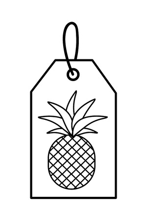 Isolated pineapple fruit, Concept of organic healthy fresh natural food market Vector illustration