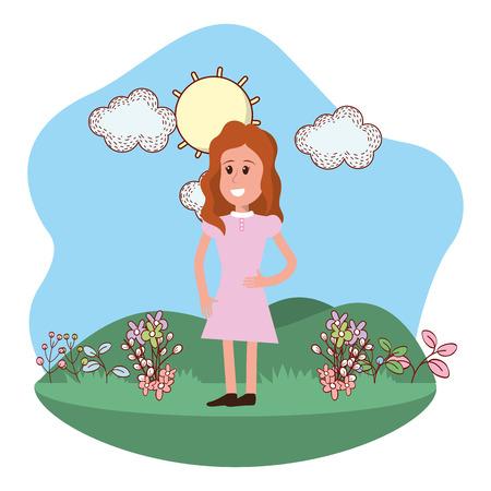 Cartoon woman design, Girl female avatar person and human theme Vector illustration