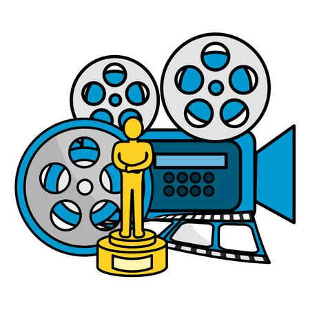 Icon set design, Cinema movie video film media entertainment show and premiere theme Vector illustration