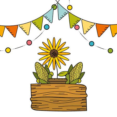 Sunflower design, Flower garden floral nature plant ornament and botany theme Vector illustration Illustration