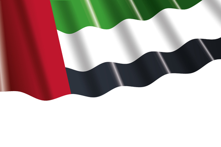 united arab emirates flag cartoon vector illustration graphic design