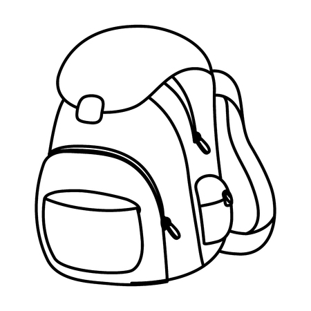 school backpack cartoon vector illustration graphic design