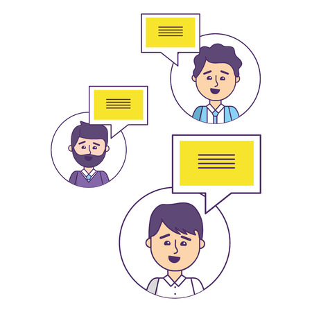 business coworkers friends chatting cartoon vector illustration graphic design