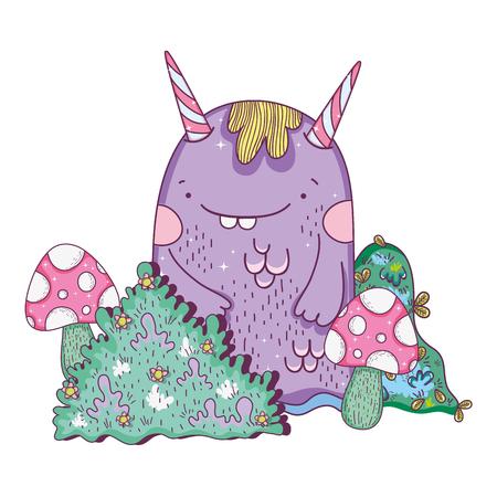 fairytale monster in the landscape Illustration