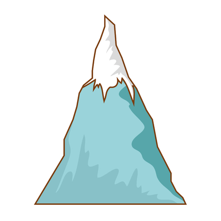 mountain in white background vector illustration graphic design