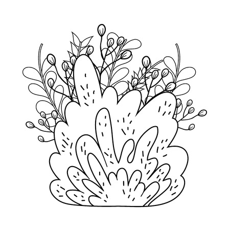 cute fairytale bush icon vector illustration design