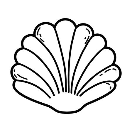 decorative shell isolated icon vector illustration design
