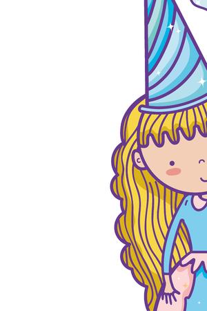 cute magic princess cartoon vector illustration graphic design