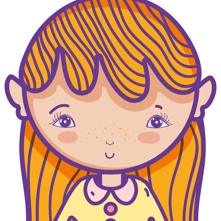 cute magic girl cartoon vector illustration graphic design