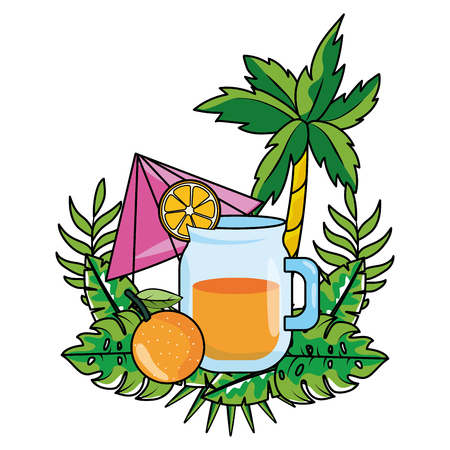 delicious fresh juice glass cartoon vector illustration graphic design