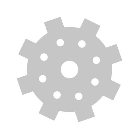 successful business concept element support gears cartoon vector illustration graphic design Illustration
