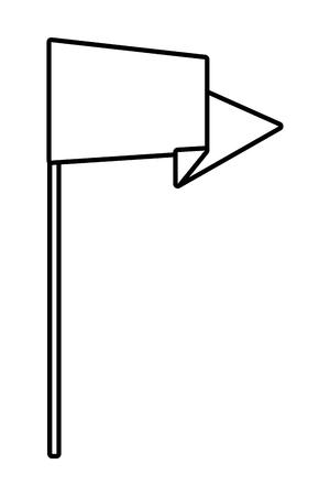 successful business concept element flag cartoon vector illustration graphic design