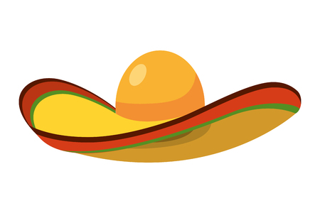 mexican icon mariachi hat cartoon vector illustration graphic design 免版税图像 - 127387971