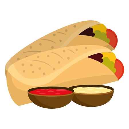 delicious mexican food cartoon vector illustration graphic design